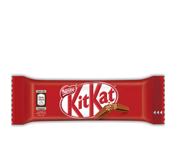 Nestle Kitkat 2 Finger Milk Chocolate Wafer Bar kuwait Kitkat كيت كات ٢ إصبع شوكولاته ٢٠.٥غ