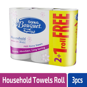 Sanita Bouquet Household towels 670m x 2 + 1 rolls