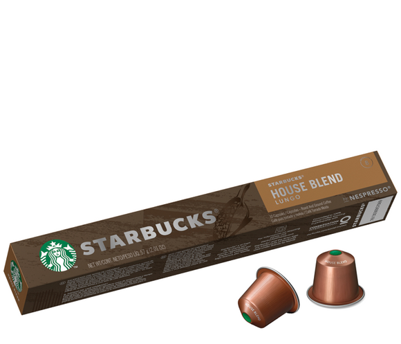 Starbucks House Blend by Nespresso Medium Roast Coffee Capsules Tube