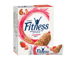 Nestle Fitness Strawberry Cereal Bar 6 x 23.5g
