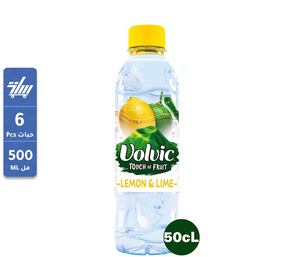 Volvic Natural Mineral Water Lemon and Lime 6 x 500 ml مياه فولفيك بالليمون
