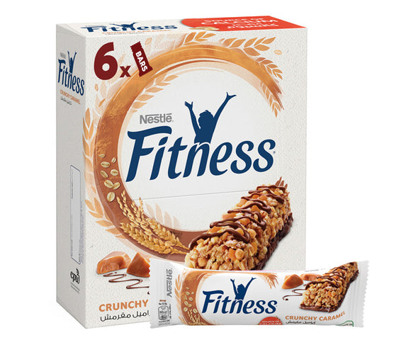 Nestle Fitness Crunchy Caramel Breakfast Cereal Bar 6 x 23.5g