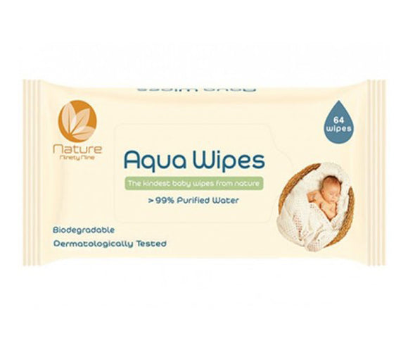 عدد 64 مناديل مبللة  Aqua Wipes Single packs of 64 wipes