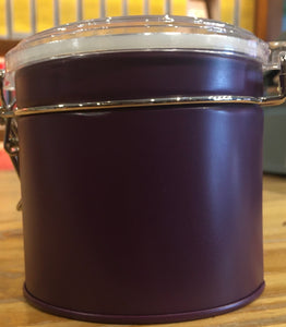 Round with Clear Top Tea Tin