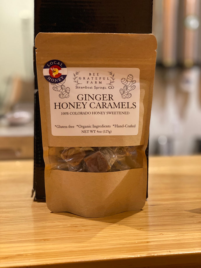 4oz Honey Caramels Bag-Ginger
