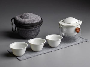 The Autofu Easy-Brew Gaiwan Travel Set-White