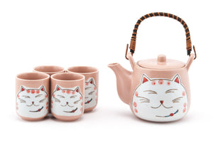 Pink Cat Tea Set - 20oz
