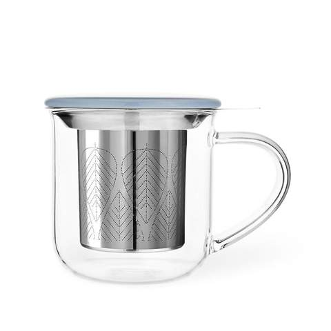 Glass Leaf Infuser Mug