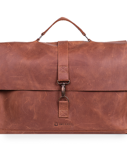 Elegant Convertible Bag Made Of Genuine Vintage Leather