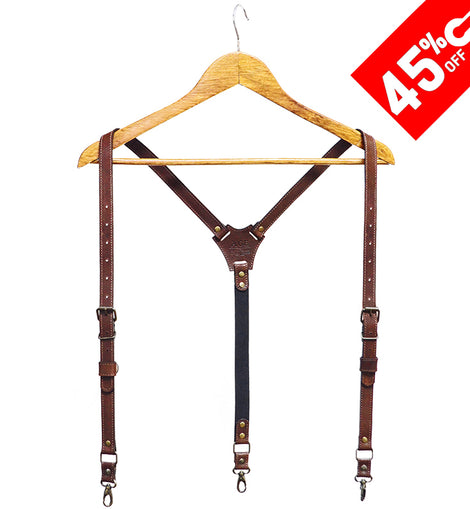 Suspenders Brown