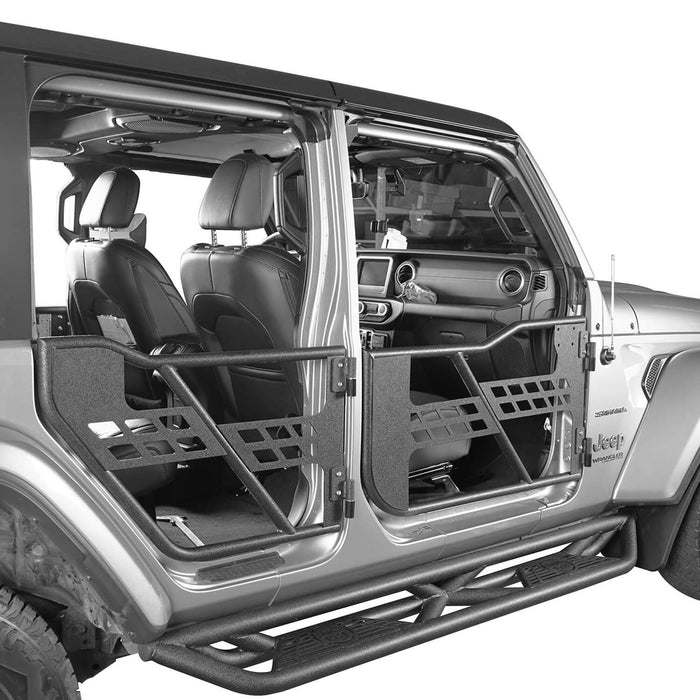 Hooke Road® 4-Door Running Boards & Tubular Half Doors Combo(2020 Jeep Gladiator)