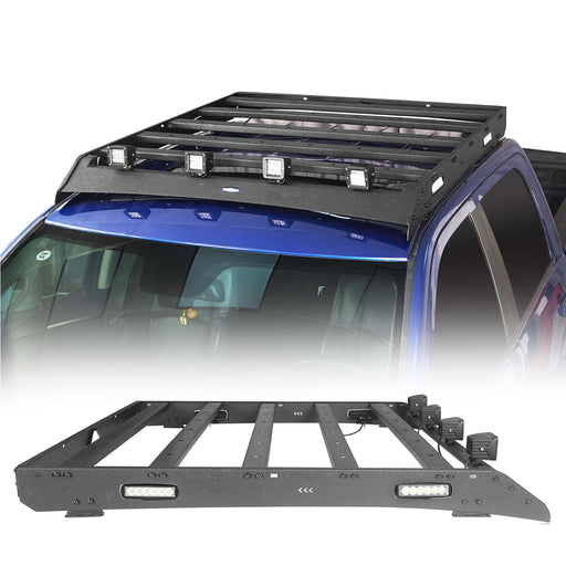 Hooke Road® Dodge Ram Top Roof Rack Cargo Carrier for Dodge Ram Crew Cab bxg804 u-Box BXG804 2