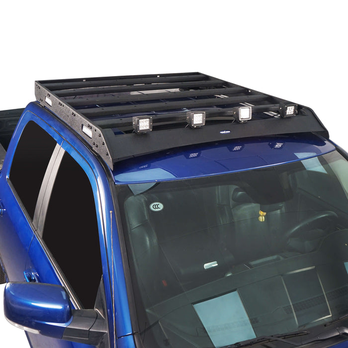 Hooke Road® Dodge Ram Top Roof Rack Cargo Carrier for Dodge Ram Crew Cab bxg804 u-Box BXG804 4