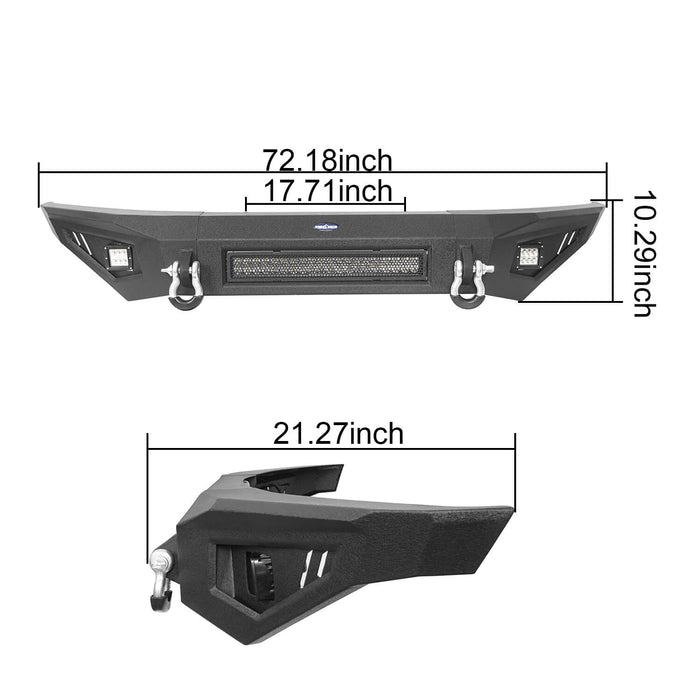 Hooke Road® F-150 Ford Full Width Front Bumper for 2009-2014 Ford F-150, Excluding Raptor BXG5201 9