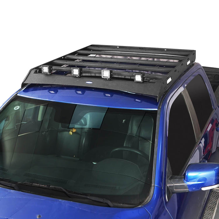 Hooke Road Full Width Front Bumper & Rear Bumper & Roof Rack Luggage Carrier(09-18 Dodge Ram)