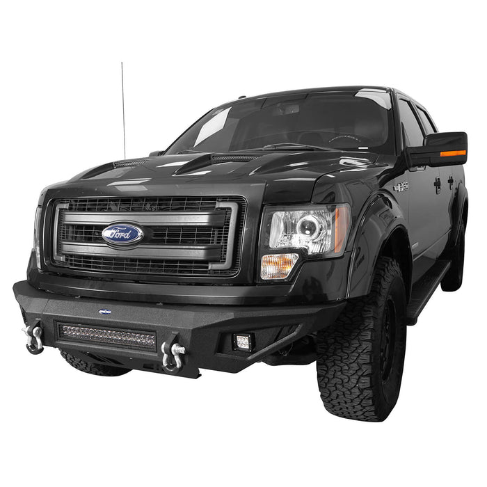 Hooke Road Front Bumper w/Light Bar, Rear Bumper, Roof Rack(09-14 Ford F-150)