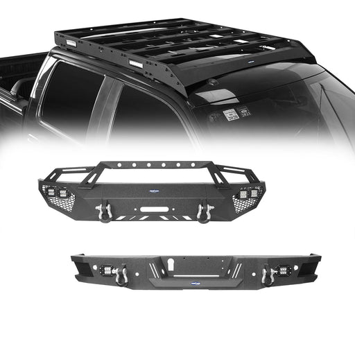 Hooke Road Full Width Front Bumper, Rear Bumper, Roof Rack(09-14 Ford F-150)