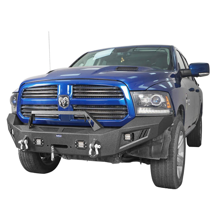 Hooke Road® Discoverer Front Bumper Full Width Bumper for 2013-2018 Dodge Ram 1500 BXG801 u-Box offroad 3