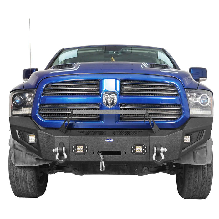 Hooke Road® Discoverer Front Bumper Full Width Bumper for 2013-2018 Dodge Ram 1500 BXG801 u-Box offroad 4