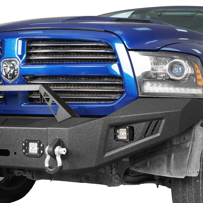 Hooke Road® Discoverer Front Bumper Full Width Bumper for 2013-2018 Dodge Ram 1500 BXG801 u-Box offroad 5