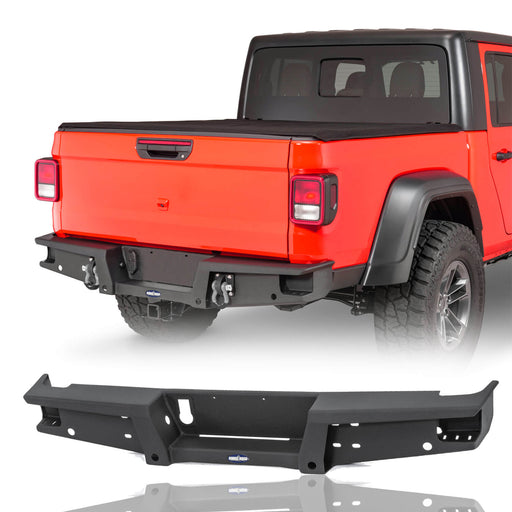 Hooke Road Jeep Gladiator Rear Bumper for Jeep Gladiator JT Jeep Gladiator Bumper u-Box Offroad BXG7003 2