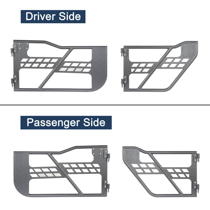 Hooke Road® Side Steps & Tubular Half Doors(20-21 Jeep Gladiator 4-Door)