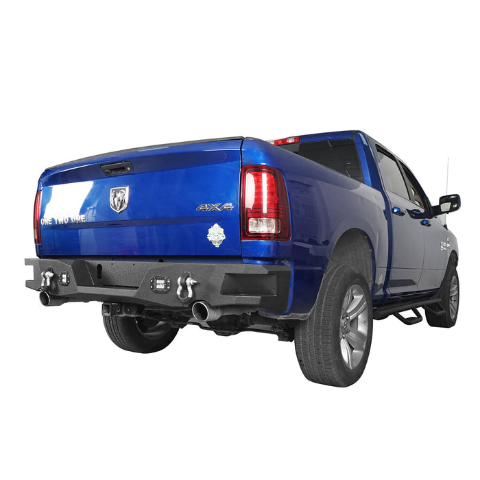 Hooke Road® Dodge Ram Rear Bumper for 2009-2018 Dodge Ram 1500 Dodge Ram Parts BXG802 u-Box offroad 3