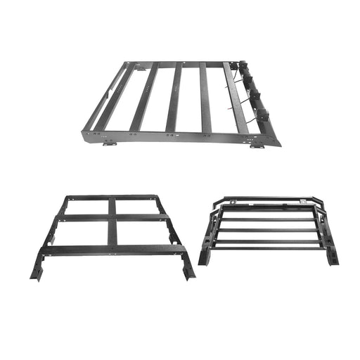 Hooke Road® Crewmax Roof Rack & MAX 13 inch High Bed Rack & Roll Bar Bed Rack(14-21 Toyota Tundra)