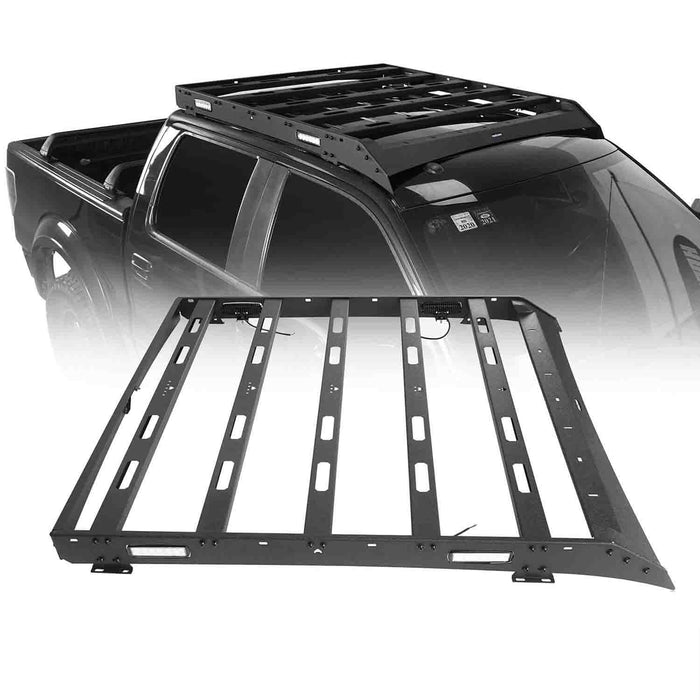 Hooke Road Ford F-150 Roof Rack for 2009-2014 Ford Raptor & F150 SuperCrew u-Box Offroad BXG8205 2