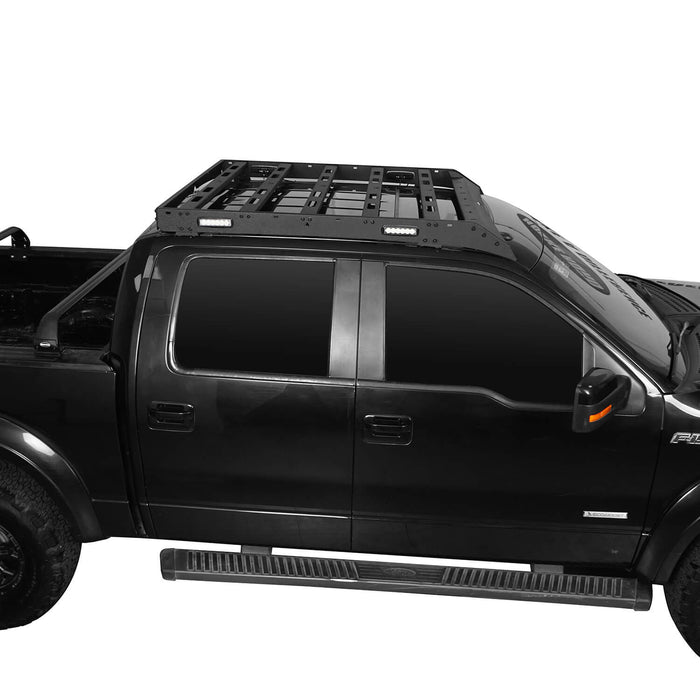 Hooke Road Ford F-150 Roof Rack for 2009-2014 Ford Raptor & F150 SuperCrew u-Box Offroad BXG8205 5