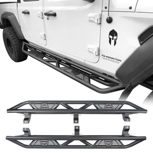 Hooke Road® Jeep JT Running Boards Side Steps Nerf Bars for 2020 Jeep Gladiator bxg900 1