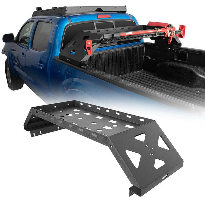 Hooke Road Tacoma Bed Rack Cargo Rack with RotoPax Fuel Packs for 2005-2015 Toyota Tacoma Gen 2nd BXG4018 2