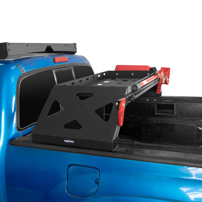 Hooke Road Tacoma Bed Rack Cargo Rack with RotoPax Fuel Packs for 2005-2015 Toyota Tacoma Gen 2nd BXG4018 3