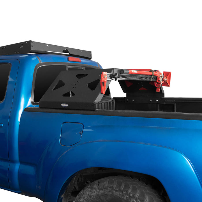 Hooke Road Tacoma Bed Rack Cargo Rack with RotoPax Fuel Packs for 2005-2015 Toyota Tacoma Gen 2nd BXG4018 4