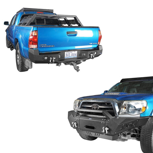 u-Box Trucks Tacoma Full Width Front Bumper & Rear Bumper for 05-15 Toyota Tacoma Bxg402421 u-Box Offroad 2