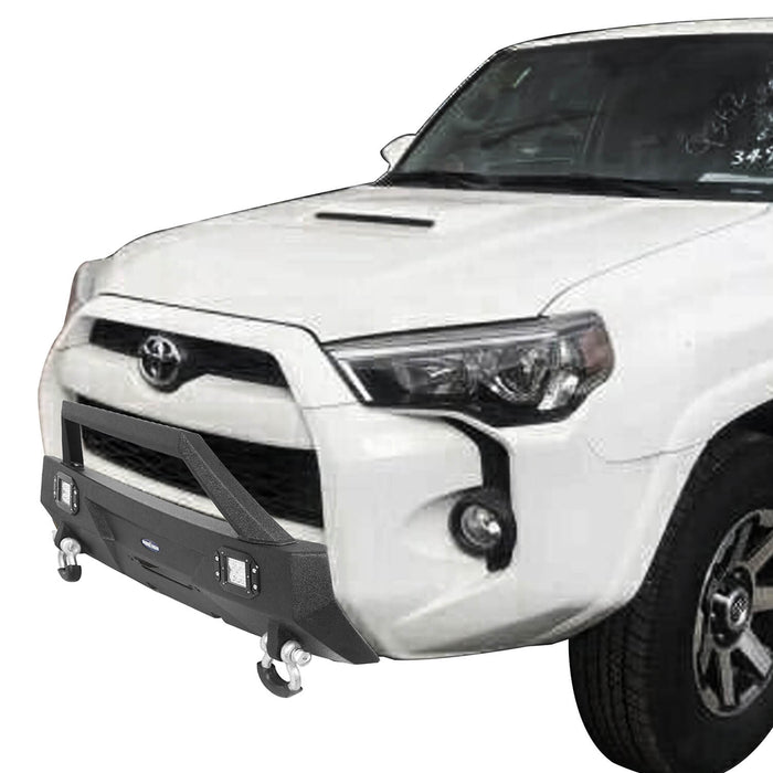 Hooke Road® Toyota Stubby Front Bumper Bar w/Led Lights for 2010-2020 Toyota 4Runner  BXG9014 4