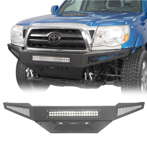 u-Box Trucks Toyota Tacoma Full Width Front Bumper with Skid Plate for 2005-2015 Toyota Tacoma BXG410 u-Box Offroad 2