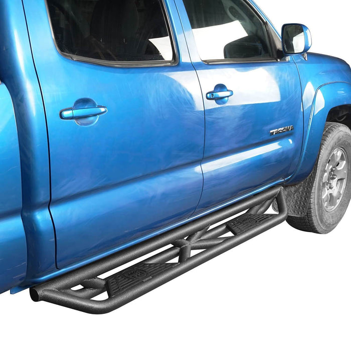 Hooke Road Toyota Tacoma Side Steps 4 Door Tubular Nerf Bars Toyota Tacoma Parts for Toyota Tacoma 2005-2019 2nd Gen 3rd Gen BXG404 u-Box offroad 4