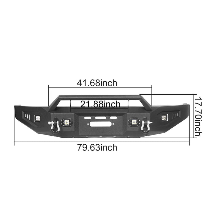 Hooke Road Toyota Tundra Front Bumper with Winch Plate for 2007-2013 Toyota Tundra u-Box Offroad BXG5205 13