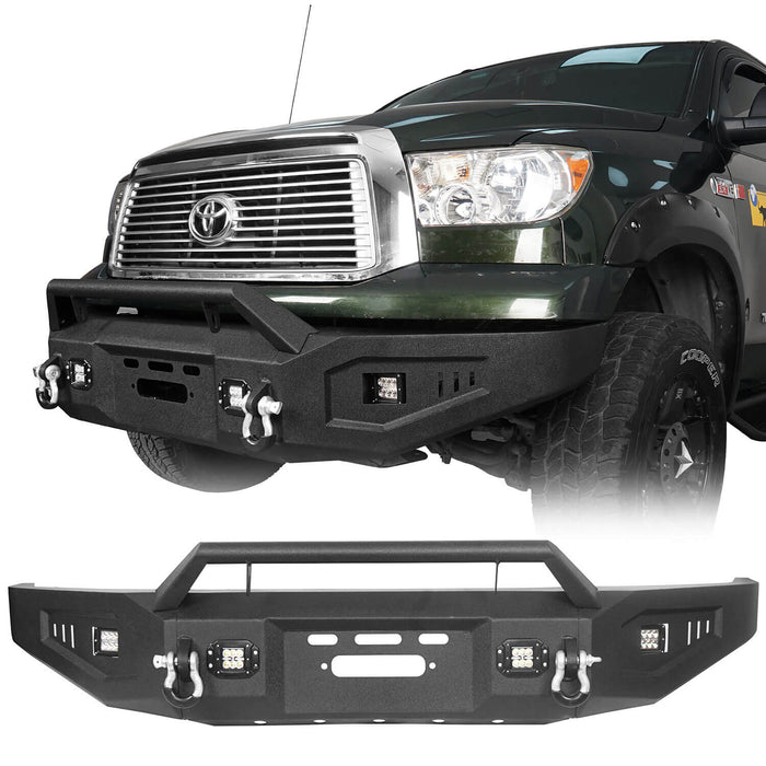 Hooke Road Toyota Tundra Front Bumper with Winch Plate for 2007-2013 Toyota Tundra u-Box Offroad BXG5205 2