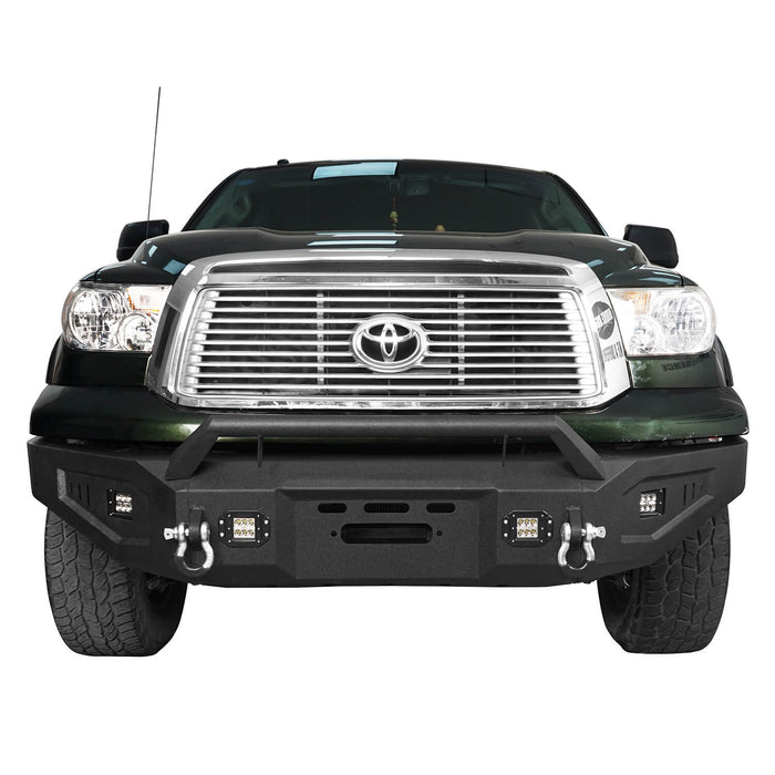 Hooke Road Toyota Tundra Front Bumper with Winch Plate for 2007-2013 Toyota Tundra u-Box Offroad BXG5205 3