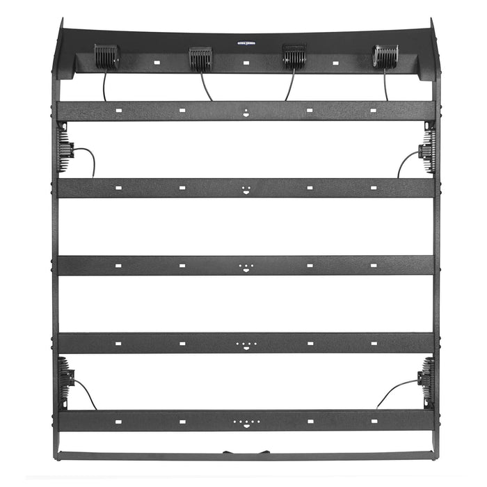 Hooke Road Tundra Roof Rack With Lights for 2007-2013 Toyota Tundra Crewmax Tundra Luggage Rack u-Box Offroad BXG5202 11