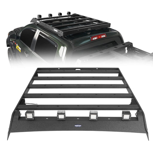 Hooke Road Tundra Roof Rack With Lights for 2007-2013 Toyota Tundra Crewmax Tundra Luggage Rack u-Box Offroad BXG5202 2