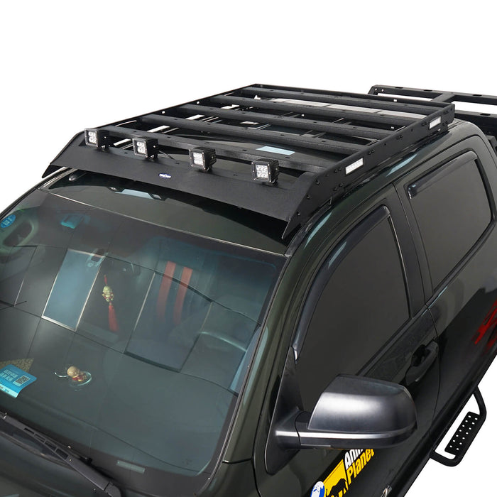 Hooke Road Tundra Roof Rack With Lights for 2007-2013 Toyota Tundra Crewmax Tundra Luggage Rack u-Box Offroad BXG5202 3