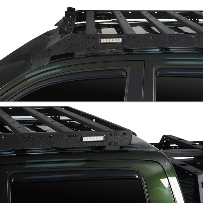 Hooke Road Tundra Roof Rack With Lights for 2007-2013 Toyota Tundra Crewmax Tundra Luggage Rack u-Box Offroad BXG5202 6