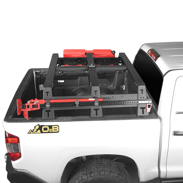 "u-Box Trucks 2014-2019 Toyota Tundra MAX 13"" High Bed Rack Toyota Tundra Parts u-Box offroad 4"