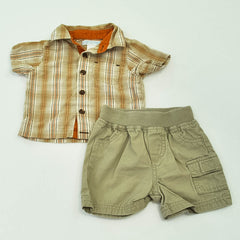 Old Navy Shirt with Circo Shorts ~ Gently-Used