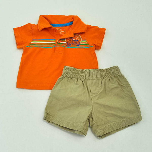 Children's Place Polo with Carter's Shorts ~ Gently-Used