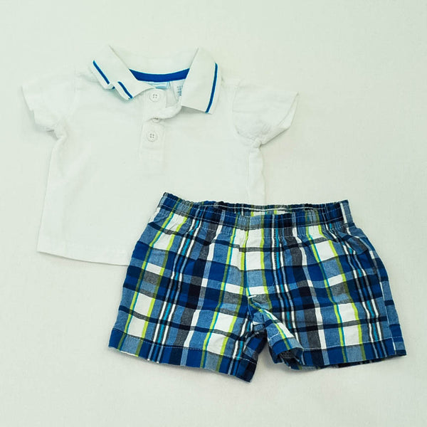 First Impressions Polo with Koala Baby Shorts ~ Gently-Used