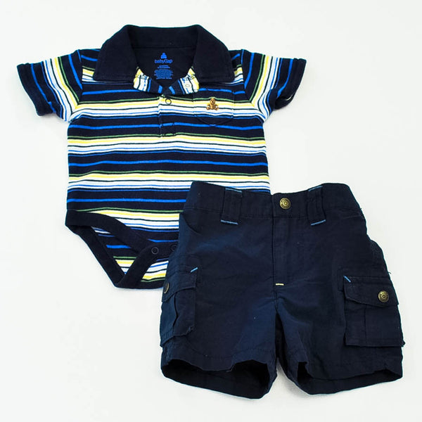 Baby Gap Onesie with Sonoma Shorts ~ Gently-Used